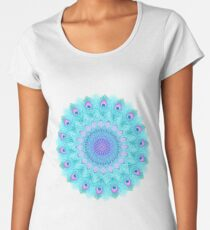 Peacock feathers mandala Women's Premium T-Shirt