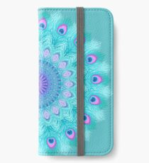 Peacock feathers mandala iPhone Wallet/Case/Skin