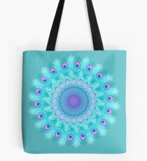 Peacock feathers mandala Tote Bag