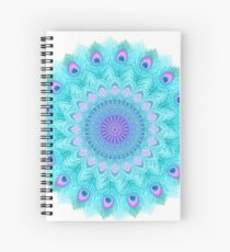 Peacock feathers mandala Spiral Notebook