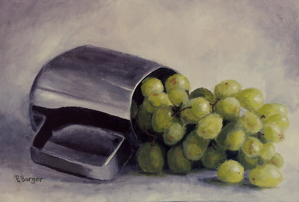 Silver Cup with Grapes by Pamela Burger