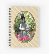 A Colonial Lady in Her Garden Spiral Notebook