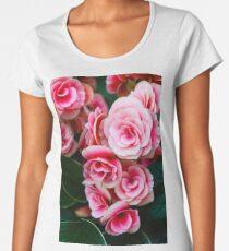 Gentle Blushing Roses Women's Premium T-Shirt