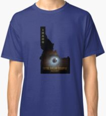 Total Solar Eclipse in Idaho Map Outline Classic T-Shirt