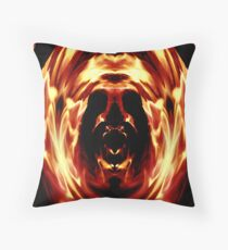 Fire In The Head Throw Pillow