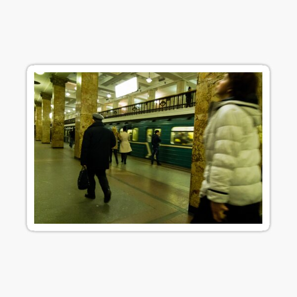 Moscow Subway Sticker