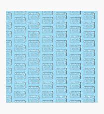 Cassette Tape - Blue Photographic Print