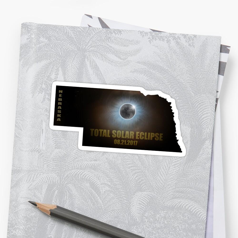 Total Solar Eclipse In Nebraska Map Outline Stickers By Davidgnsx1