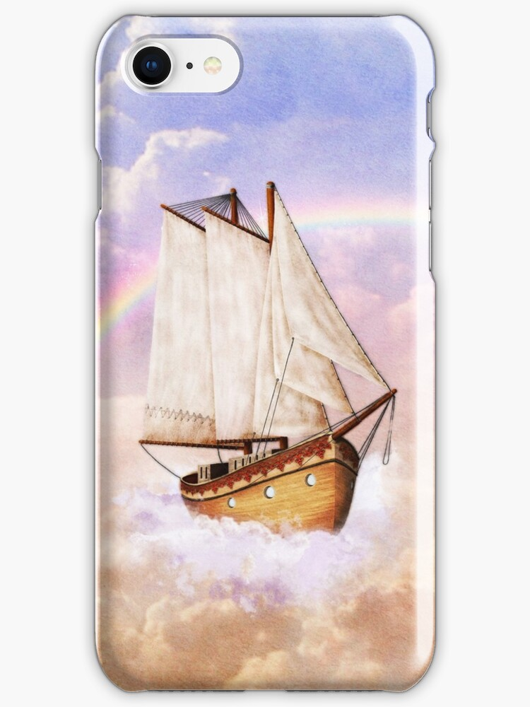 Hi-sky trip iPhone case by Dominika Aniola