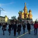 St Basil's crowd - Moscow Russia by Norman Repacholi