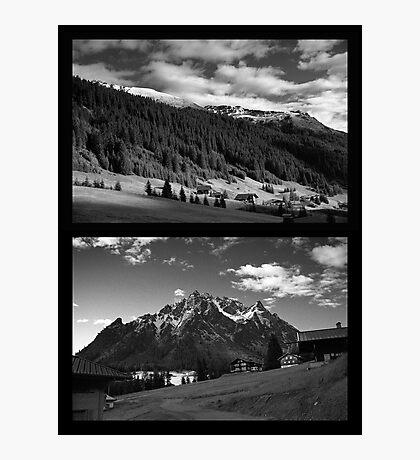 Morning snow, Montafon, Austria Photographic Print