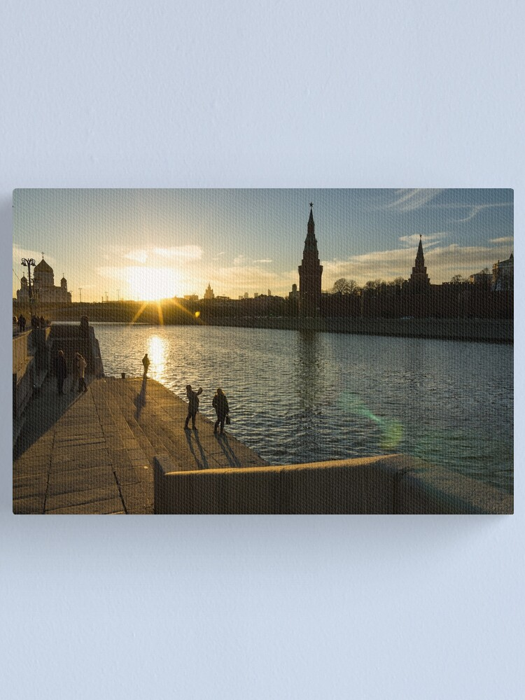 Alternate view of Snapshots at sunset - Moscow Russia Canvas Print