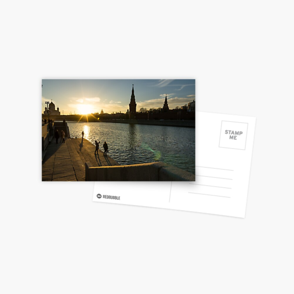 Snapshots at sunset - Moscow Russia Postcard
