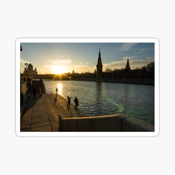 Snapshots at sunset - Moscow Russia Sticker