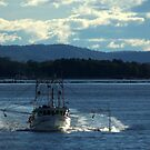 Prawn trawler heading out to sea by myraj