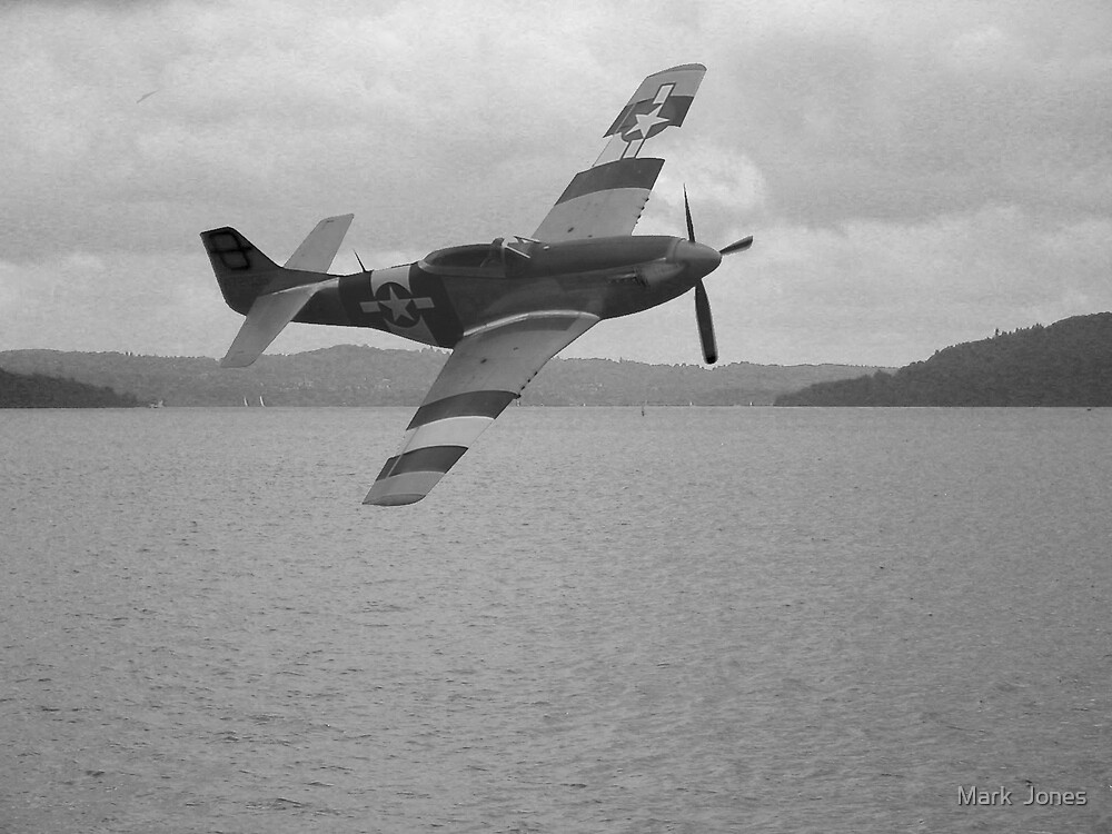 P-51D over Lake Windemere, September 1944 by Mark  Jones