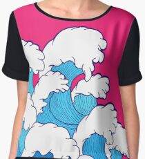 As the waves roll in Women's Chiffon Top