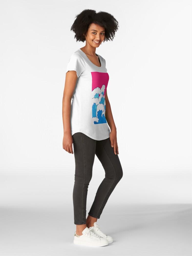 Alternative Ansicht von Wie die Wellen einrollen Frauen Premium T-Shirt