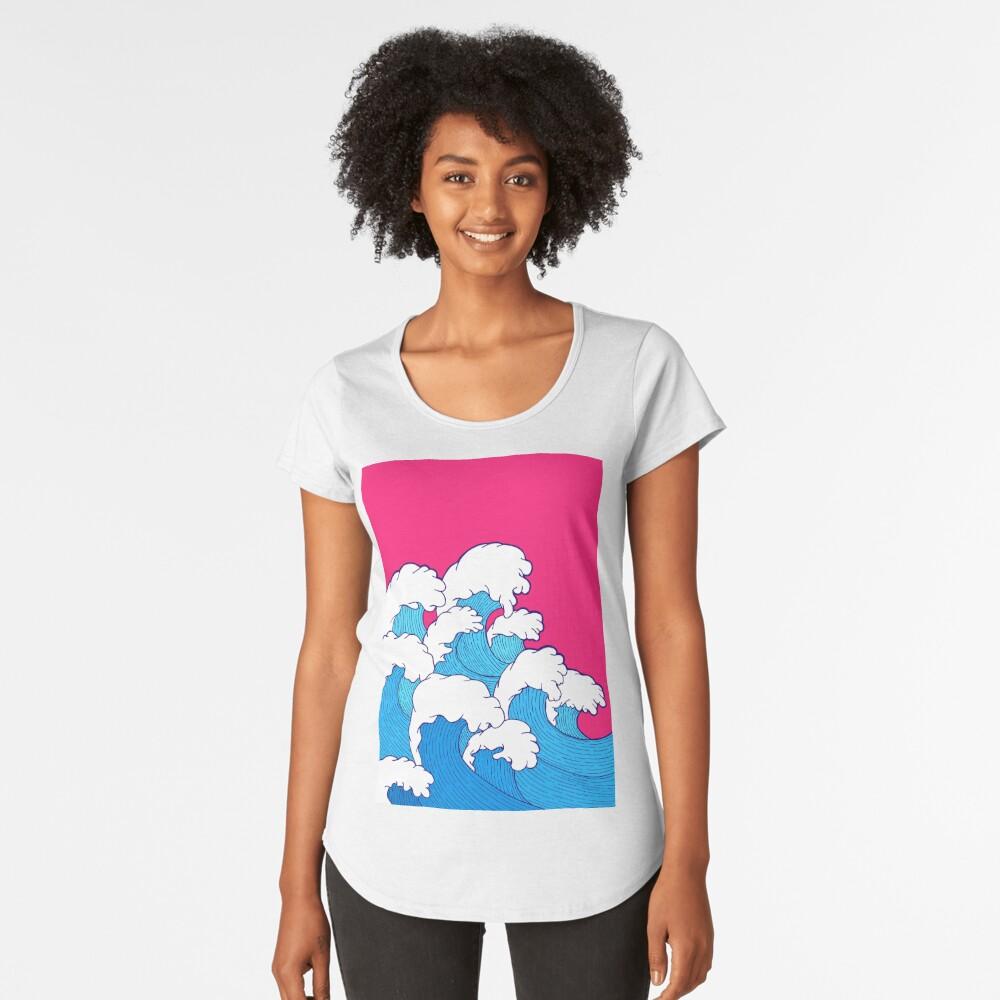 Wie die Wellen einrollen Frauen Premium T-Shirt