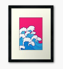 As the waves roll in Framed Print