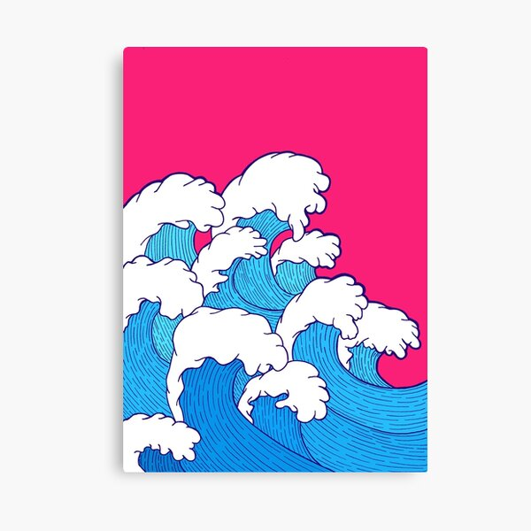 Da rollen die Wellen herein Leinwanddruck