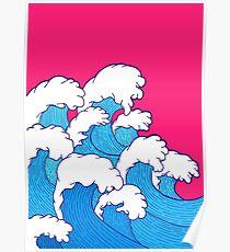Wie die Wellen einrollen Poster