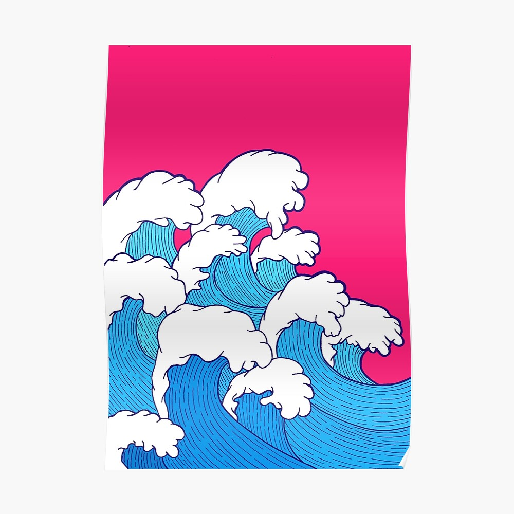 As the waves roll in Poster