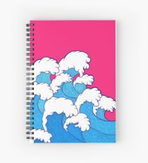 As the waves roll in Spiral Notebook