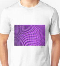 Purple tartan wave T-Shirt