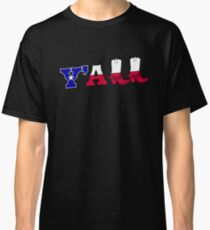 Y'all Texas Flag Southern Cowboy Boots Classic T-Shirt