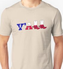Y'all Texas Flag Southern Cowboy Boots T-Shirt