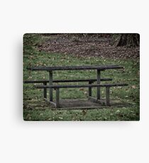 Park Picnic Table Canvas Print