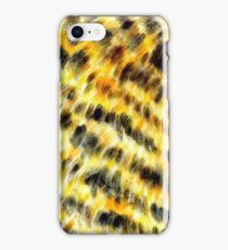 Animal fur yellow black 2 iPhone Case/Skin