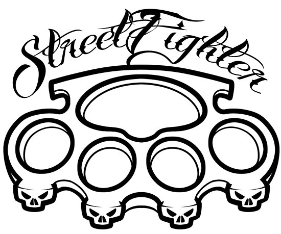 streetfighter brass knuckles tattoo biker motorcycle posters by Custom Bikes streetfighter brass knuckles tattoo biker motorcycle by rankore