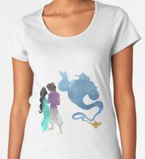 Princess, Prince and Genie Inspired Silhouette Women's Premium T-Shirt
