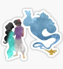 Princess, Prince and Genie Inspired Silhouette Sticker