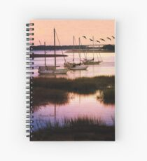Boats at Anchor ~ Evening Tranquility Spiral Notebook