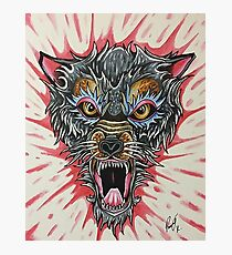 Angry Wolf Photographic Print
