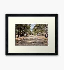 Wanyarra Country Road and Bridge Framed Print