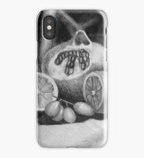 Drawing illustration of still life with fruits iPhone Case/Skin