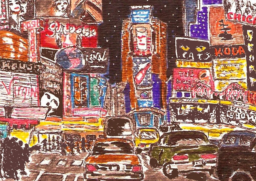 Times Square Broadway New York City by jbguess