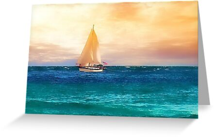 Sailing in the Sunset by RickDavis