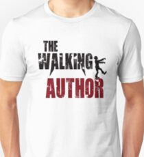 Funny Author walking writer zombie gift birthday t shirt T-Shirt
