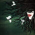 Birds in my hair by Sybille Sterk