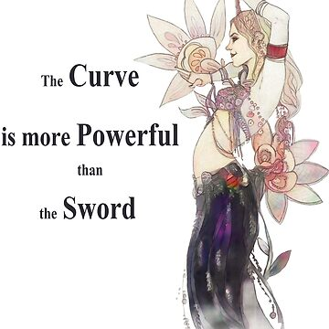 the Curve is more Powerfull than the Sword - Mae West by Lysaena