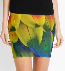 Parrot Feathers Mini Skirt
