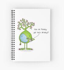 Monday Neuron Spiral Notebook