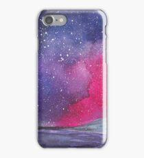 Night sky galaxy watercolor iPhone Case/Skin