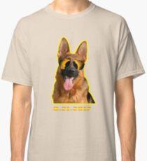 German Shepard Dog Total Solar Eclipse T shirt Classic T-Shirt