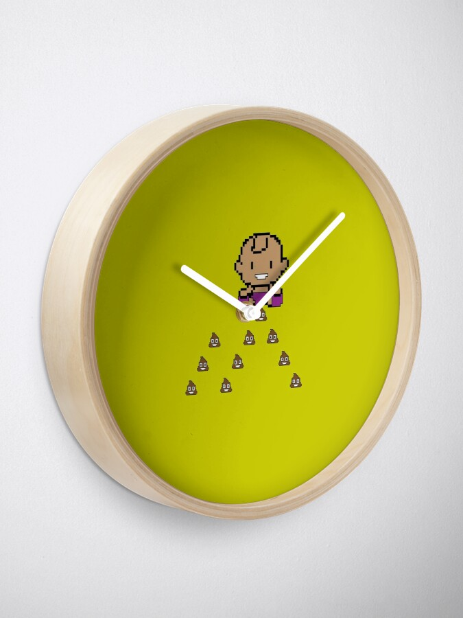 Alternate view of Baby Space Invader Clock